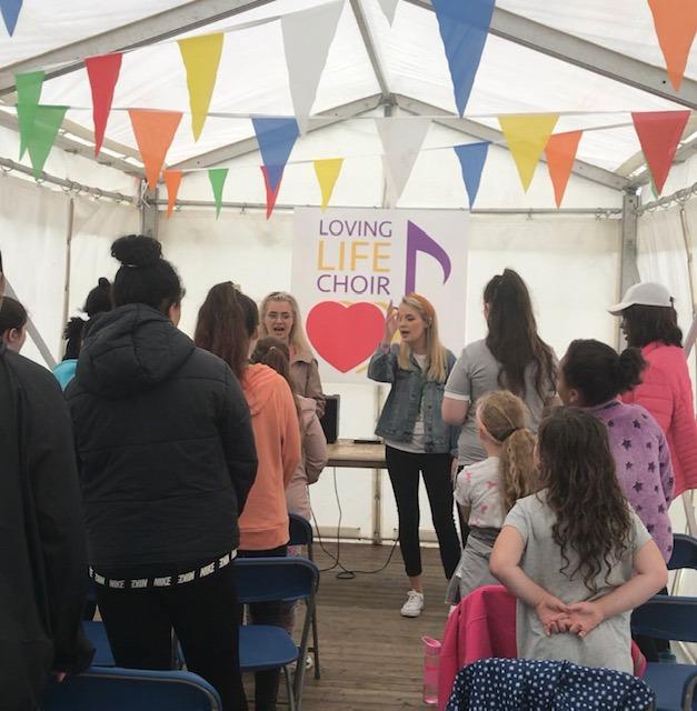 Loving Life Choir in Practice