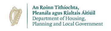 an roinn tithiochta logo